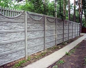 Бетонный забор – простота и долговечность!
